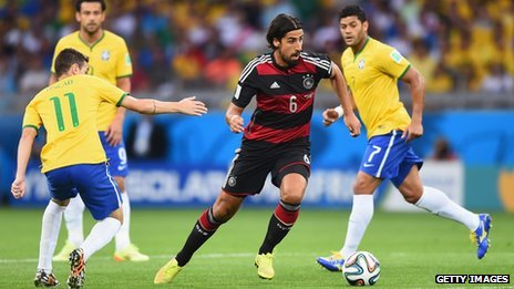World Cup semi-final between Germany and Brazil