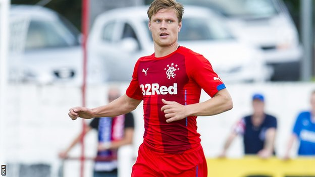 Marius Zaliukas played for Rangers in a recent pre-season friendly match against Brora Rangers