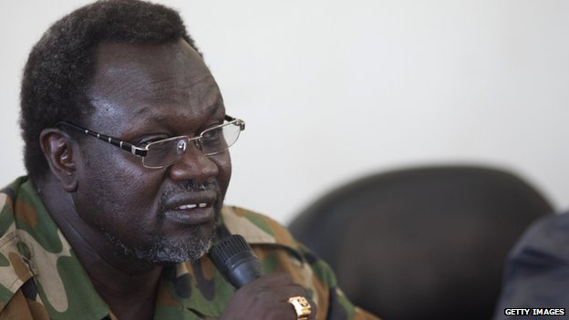 Former South Sudanese vice president Riek Machar