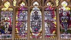Stained-glass windows in Leicester Cathedral