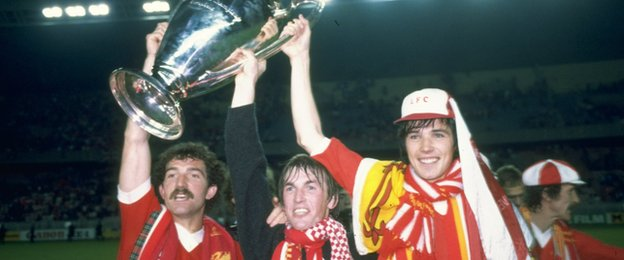 Alan Hansen with the European Cup