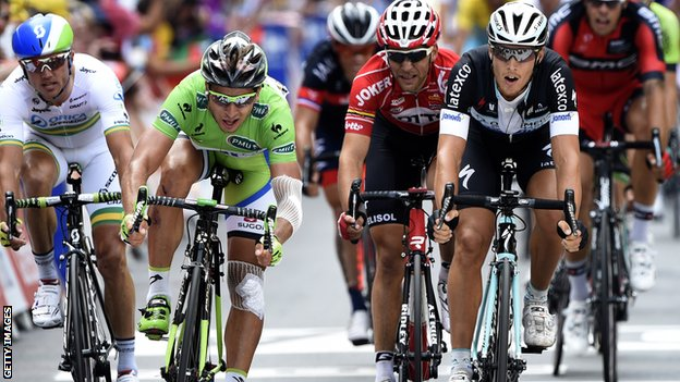 Peter Sagan (left) and Matteo Trentin