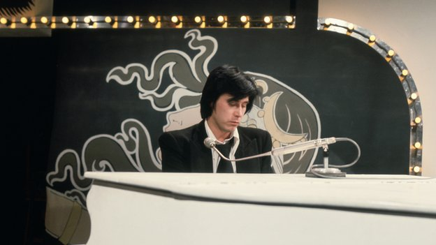 Bryan Ferry performing on Top of the Pops in 1973