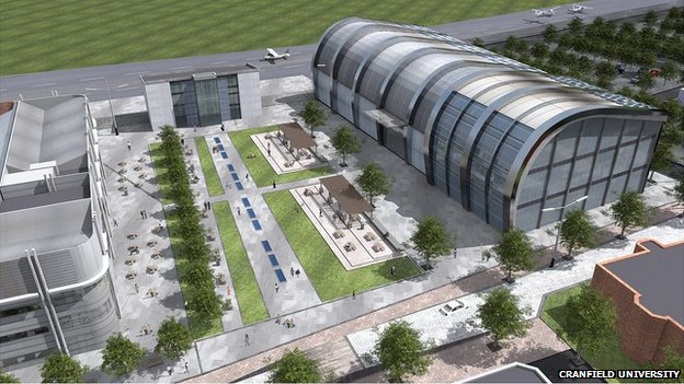 Artist impression of Cranfield University's aerospace research centre