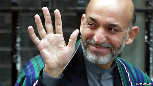 Hamid Karzai in 2002