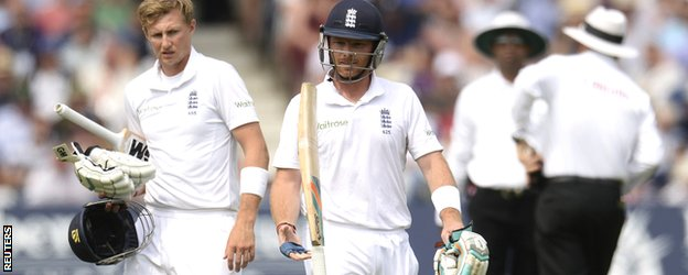 Ian Bell was the fourth England wicket to fall