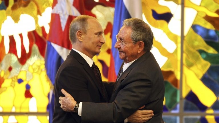 Russia's Vladimir Putin begins Americas visit in Cuba