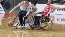 Great Britain v Turkey wheelchair basketball Terry Bywater
