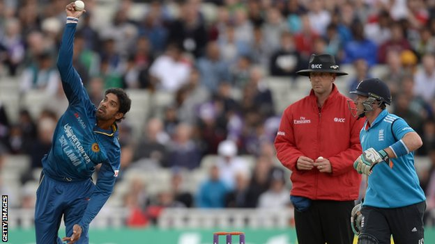 Sri Lanka's Sachithra Senanayake,