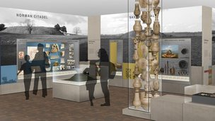 Artist's impression of the new Wessex Gallery of Archaeology