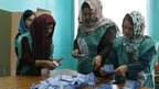 Afghan election officials count ballots (June 2014)