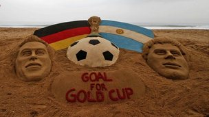 World Cup Final sand sculpture