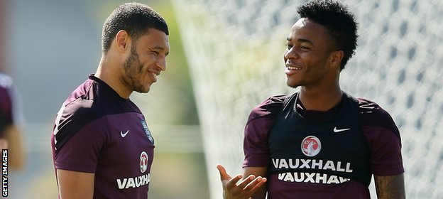 Raheem Sterling and Alex Oxlade-Chamberlain