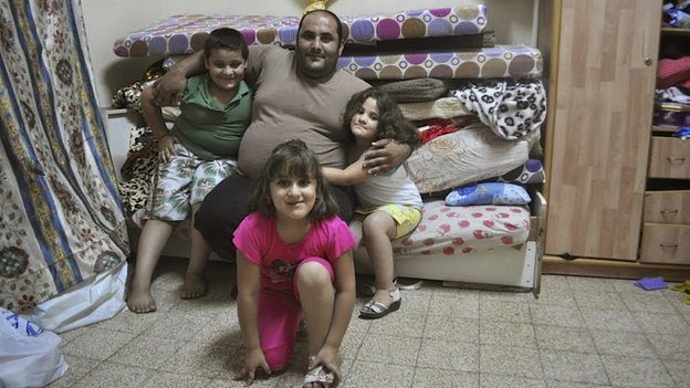 Ahmad Mohammad and his three children