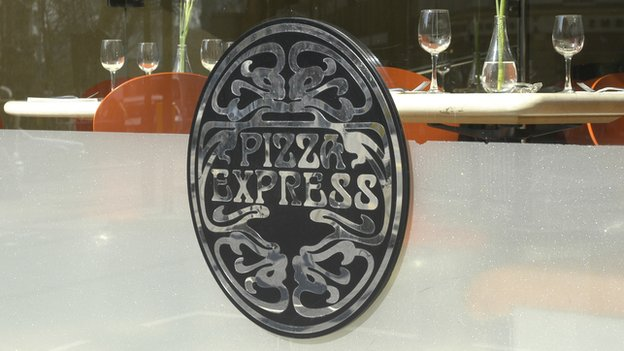Pizza Express restaurant window