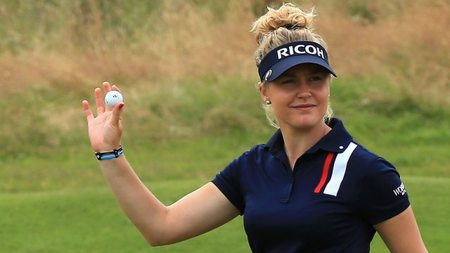 Charley Hull at the British Women's Open at Royal Birkdale