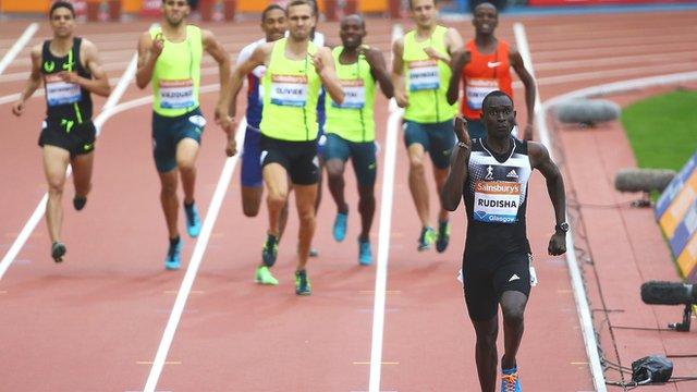 David Rudisha eases to 800m win in Glasgow