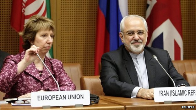 EU foreign policy chief Catherine Ashton and Iran's Foreign Minister Mohammad Javad Zarif