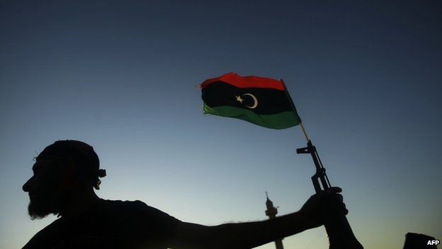 File photo of a Libyan rebel fighter