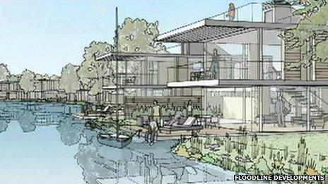 An artist's impression of the Burfield Park development