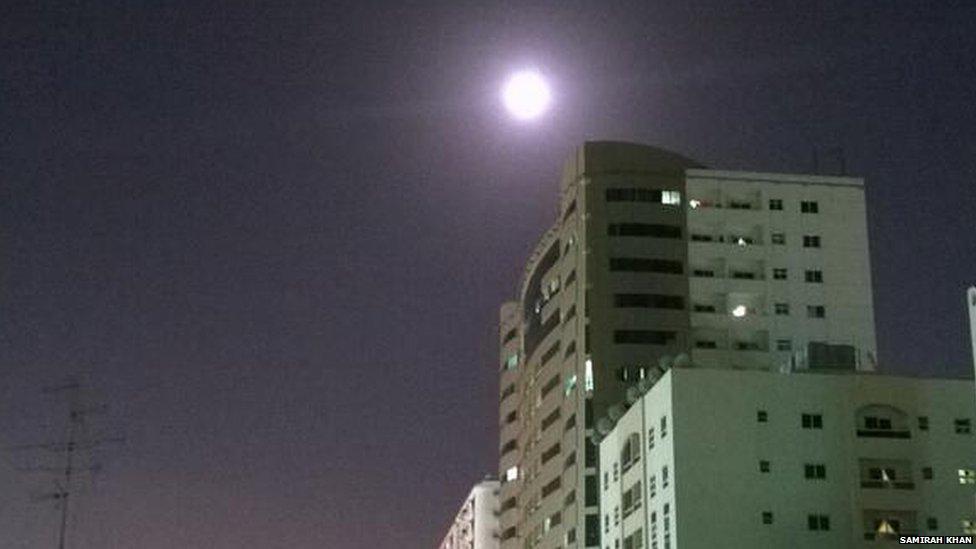 Supermoon in the UAE. Photo: Samirah Khan