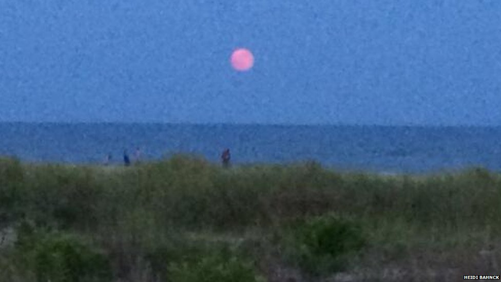 Supermoon in New Jersey, USA. Photo: Heidi Bahnck