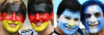 Germany and Argentina fans