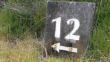 A waymarker at Castle Stuart Golf Links