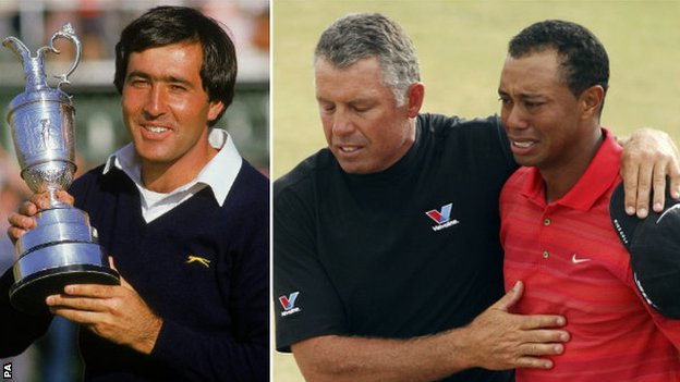 Seve Ballesteros and Tiger Woods