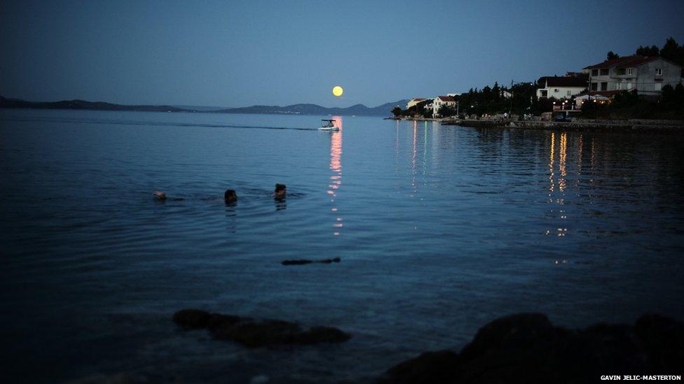 Supermoon in Croatia. Photo: Gavin Jelic-Masterton.