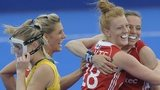 England women celebrate at London Cup