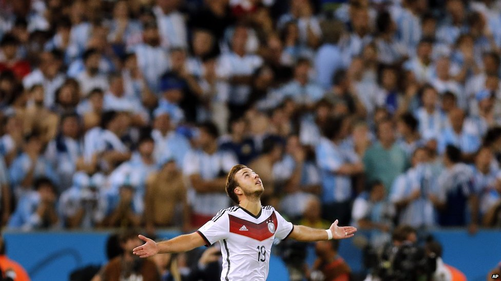 Mario Gotze celebrating