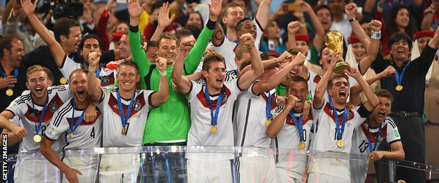 Germany lift the 2014 World Cup