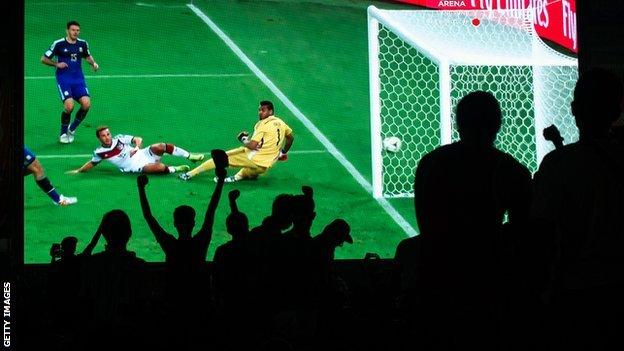 Germany fans celebrate