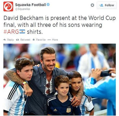David Beckham at world cup