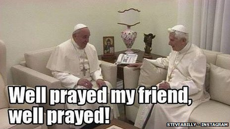 Popes Benedict and Francis