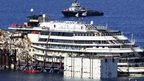 The cruise liner Costa Concordia is seen at Giglio harbour, Giglio Island, 13 July 2014