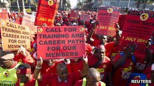 Metal Workers protest, Durban