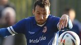 Adam Le Fondre in action for Cardiff City in a pre-season friendly.
