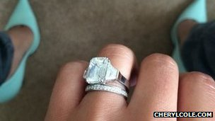 Cheryl Cole's wedding ring
