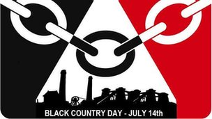 Black Country Day flag