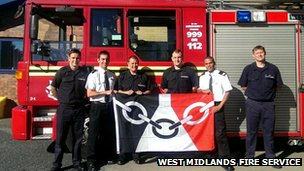 Firefighters in Dudley mark Black Country Day