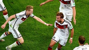 German radio commentary on Gotze's goal