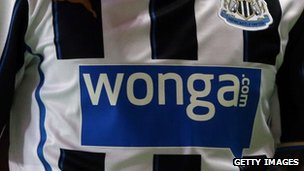Wonga football shirt