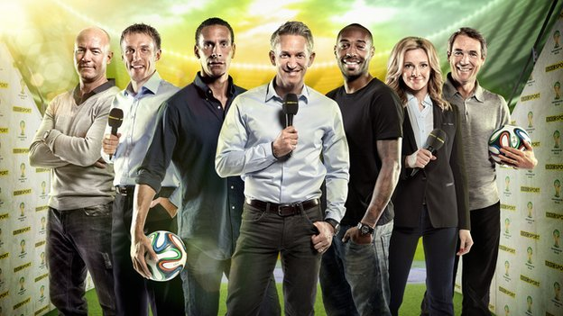 The World Cup presenters of BBC One