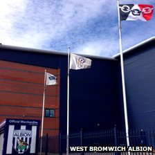 Black Country flag flying at West Brom