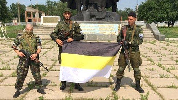 Russian volunteers in Luhansk