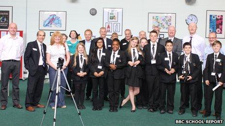 School Reporters will all the volunteers