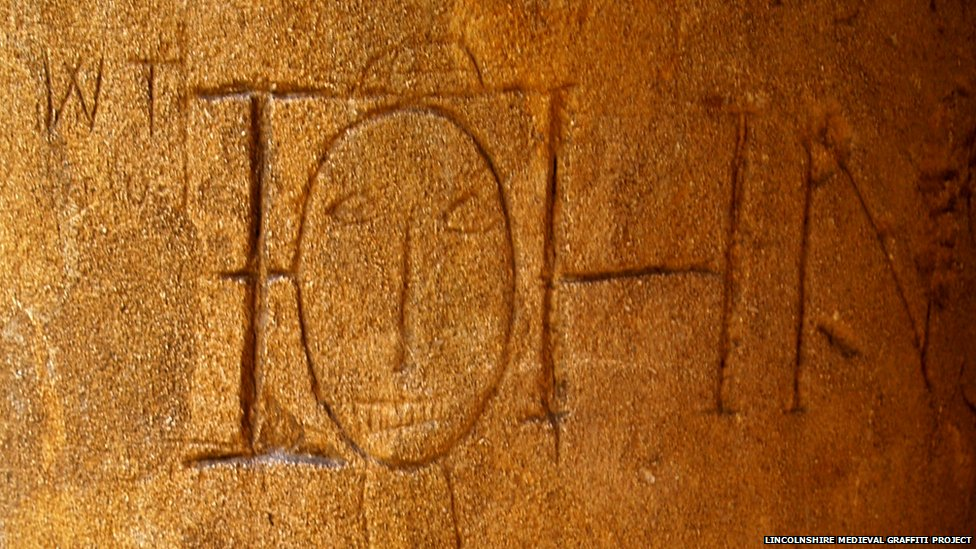 Graffiti found in Lincoln Cathedral