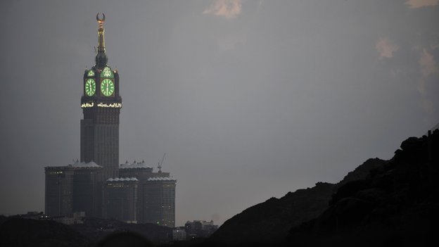 The Al-Bait clock tower in Mecca